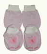 1 set of MASTER BABY Mittens & Booties - Butterfly