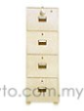 Uchida Key & Combination Fire Proof Cabinet With 4 Drawer B4-4D