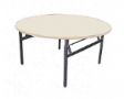 EAZIFOLD Round Table - Beech Colour - 1200(DIA) x 760(H)