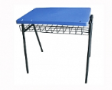SKOLAR COMBI Study-table with plastic tablet - Shell Blue