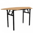 WOODSIDE CURVE - Fold-able, curved table. - Beech Colour