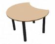 ESTIC Floral Dock Table - Natural Maple Colour