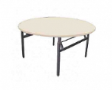 EAZIFOLD Round Table - Beech Colour - 900(DIA) x 760(H)