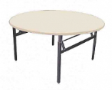 EAZIFOLD Round Table - Beech Colour - 1500(DIA) x 760(H)