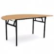 WOODSIDE Halfmoon Table - Beech Colour - 1500(W) x 750(D) x 760(H)