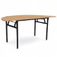 WOODSIDE Halfmoon Table - Beech Colour - 1800(W) x 900(D) x 760(H)