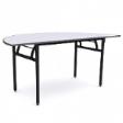 WOODSIDE Halfmoon Table - Grey Colour - 1500(W) x 750(D) x 760(H)
