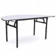WOODSIDE Halfmoon Table - Grey Colour - 1800(W) x 900(D) x 760(H)