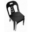 PLASTO Standard Chair - Plastic Black  (Recycled PP)