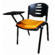 EAZI Tablet Chair With Writing Top & Seat Padded Cushion - Summer Orange