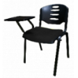 EAZI Tablet Chair With Writing Top & Without Seat Padded Cushion - Shell Black