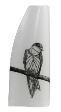 The Classic Black And White Vase Collection Hand painted Pacific Swallow.
