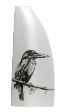 The Classic Black And White Vase Collection Hand painted Kingfisher.