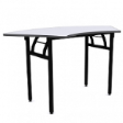 WOODSIDE CURVE - Fold-able, curved table. - Grey Colour