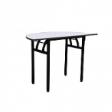 WOODSIDE Halfmoon Table DLX - Grey Colour - 1200(W) x 600(D) x 760(H)