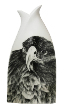 The Classic Black And White Vase Collection Rose Bud Series Hand Painted Eagle.