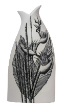 The Classic Black And White Vase Collection Rose Bud Series Hand Painted Heliconia Psittacorum