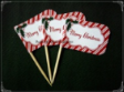 Christmas Party Supply Toothpick Flag Food Pick Design 2
