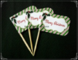 Christmas Party Supply Toothpick Flag Food Pick Design 3