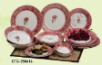 Dinner Sets and Tea Sets - Damask Flower 280616