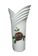 The White Collection Candle Holder / Vase Decal Purple Rose.