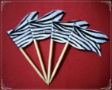 General Party Supply Toothpick Flag Food Pick Design 1