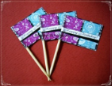 Happy Birthday Party Supply Toothpick Flag Food Pick Design 3
