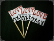 Love Theme Party Supply Toothpick Flag Food Pick Design 2