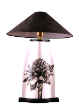 The Classic Black And White Table Lamp Collection Hand Painted Kantan With Stud.