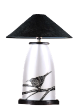 The Classic Black And White Table Lamp Collection Hand Painted Crested Yuhinia.