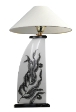 The Classic Black And White Table Lamp Collection Hand Painted Ferns.