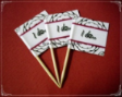 Wedding Theme Party Supply Toothpick Flag Food Pick Design 1