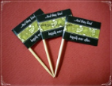Wedding Theme Party Supply Toothpick Flag Food Pick Design 2