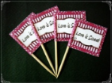 Wording Personalized Party Supply Toothpick Flag Food Pick Design 1