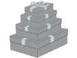 5 x Decorative Gift Boxes Extra Large ( CB67XL )