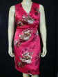 New Crimson Satin Cocktail Dress Plus Size US 18 AUS 22