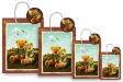 10 x Customized Print Paper Gift Bags Medium (PB76)