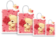 10 x Customized Print Paper Gift Bags Large (PB77)