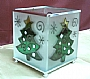 X'MAS TREE GLASS CANDLE HOLDER (L)