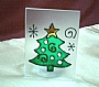 X'MAS GLASS CANDLE HOLDER (XS)