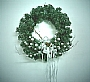 X'MAS WREATH WITH SILVER DECO
