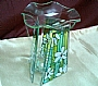 JH GREEN FLOWER GLASS BURNER PL-40040E