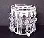 YC CRYSTAL CANDLE HOLDER (S) WHITE 7928