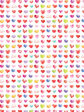30 x Decorative Valentines Day Wrapping paper (WP1072)
