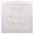 Yacht Batik Kit (Colouring for Kids)